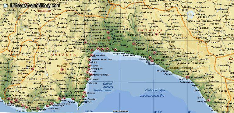 Antalya Map Travel Of
