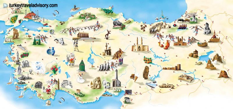 Turkey maps turkey travel map tourist map istanbul map map of – Istanbul Tourist Map
