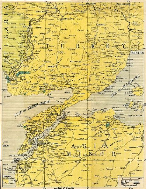 Gallipoli Map, Map of Gallipoli, Turkey Gallipoli Map, Anzac Map,