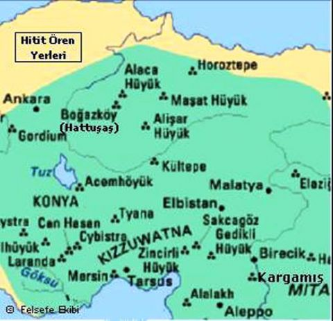 Hittites Map, Ankara Map, Map of Hatti