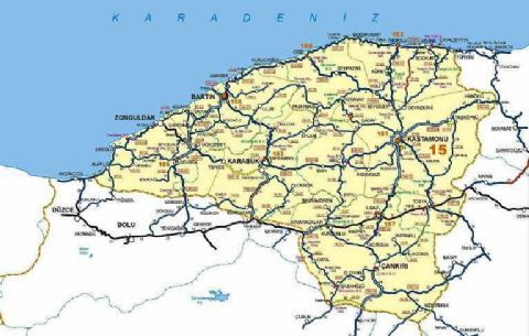 Safranbolu Map, Karabuk Map, Map of Safranbolu, Black sea Map, Map of Black Sea