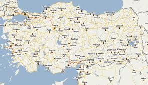 Turkey, Turkey Map, Turkey Travel Map, Map of Turkey