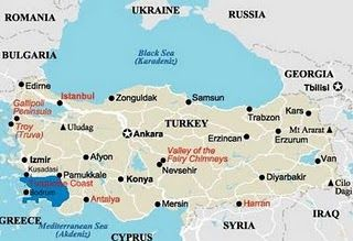Turkey, Turkey Map, Map of Turkey,Travel Map of Turkey
