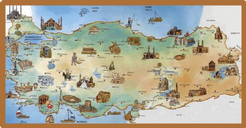 Turkey, Turkey Travel Map, Map of Turkey Travel,