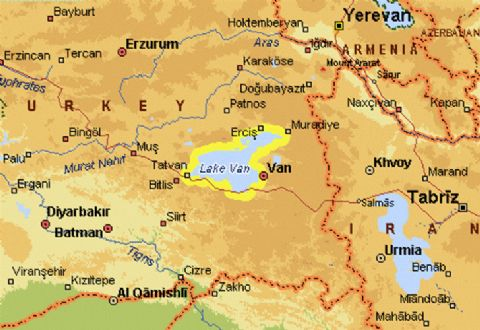 Van Map, Map of Van, East Turkey Map, Van Lake Map