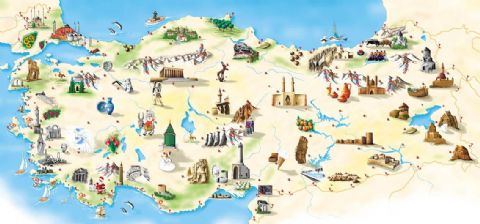 Turkey travel map, map of Turkey
